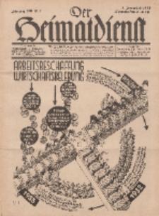 Der Heimatdienst : Mitteilungen der Reichszentrale für Heimatdienst, 13. Jahrgang, 1. Januarheft 1933, Nr 1.
