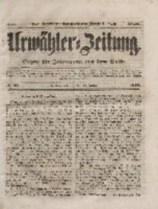 Urwähler-Zeitung : Organ für Jedermann aus dem Volke, Dienstag, 13. Januar 1852, Nr. 10.