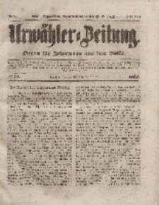 Urwähler-Zeitung : Organ für Jedermann aus dem Volke, Sonnabend, 17. Januar 1852, Nr. 14.