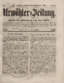 Urwähler-Zeitung : Organ für Jedermann aus dem Volke, Sonntag, 18. Januar 1852, Nr. 15.