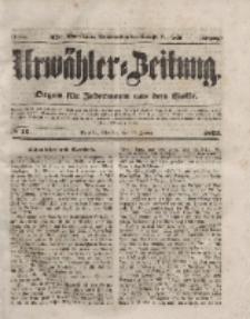 Urwähler-Zeitung : Organ für Jedermann aus dem Volke, Dienstag, 20. Januar 1852, Nr. 16.