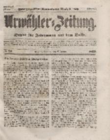 Urwähler-Zeitung : Organ für Jedermann aus dem Volke, Sonntag, 25. Januar 1852, Nr. 21.