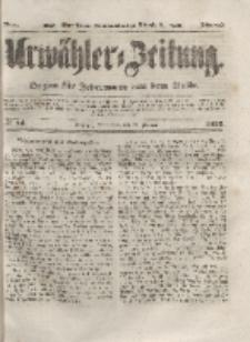 Urwähler-Zeitung : Organ für Jedermann aus dem Volke, Sonnabend, 21. Februar 1852, Nr. 44.