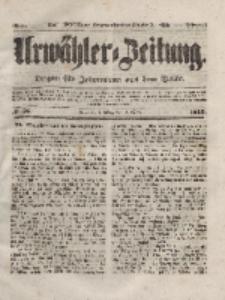 Urwähler-Zeitung : Organ für Jedermann aus dem Volke, Dienstag, 9. März 1852, Nr. 58.