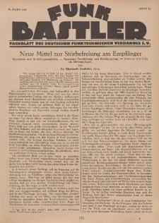 Funk Bastler : Fachblatt des Deutschen Funktechnischen Verbandes E.V., 25. März 1927, Heft 13.