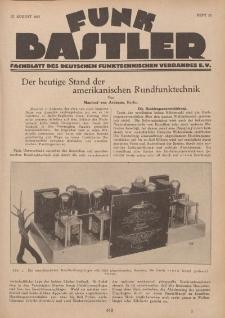 Funk Bastler : Fachblatt des Deutschen Funktechnischen Verbandes E.V., 12. August 1927, Heft 33.