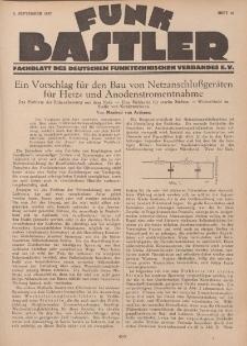Funk Bastler : Fachblatt des Deutschen Funktechnischen Verbandes E.V., 2. September 1927, Heft 36.