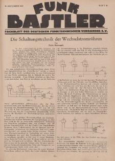 Funk Bastler : Fachblatt des Deutschen Funktechnischen Verbandes E.V., 30. September 1927, Heft 40.