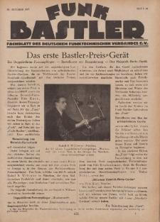 Funk Bastler : Fachblatt des Deutschen Funktechnischen Verbandes E.V., 28. Oktober 1927, Heft 44.