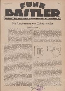 Funk Bastler : Fachblatt des Deutschen Funktechnischen Verbandes E.V., 11. Januar 1929, Heft 2.