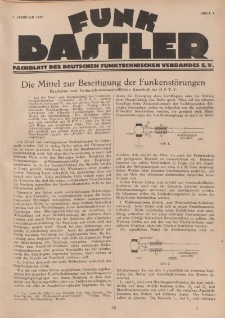 Funk Bastler : Fachblatt des Deutschen Funktechnischen Verbandes E.V., 1. Februar 1929, Heft 5.