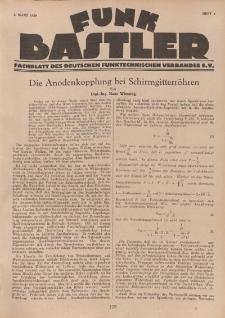 Funk Bastler : Fachblatt des Deutschen Funktechnischen Verbandes E.V., 1. März 1929, Heft 9.
