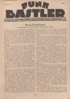 Funk Bastler : Fachblatt des Deutschen Funktechnischen Verbandes E.V., 5. April 1929, Heft 14.
