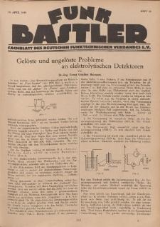 Funk Bastler : Fachblatt des Deutschen Funktechnischen Verbandes E.V., 19. April 1929, Heft 16.