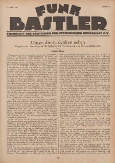 Funk Bastler : Fachblatt des Deutschen Funktechnischen Verbandes E.V., 7. Juni 1929, Heft 23.