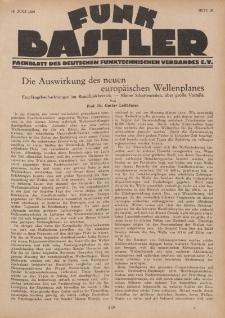 Funk Bastler : Fachblatt des Deutschen Funktechnischen Verbandes E.V., 19. Juli 1929, Heft 29.