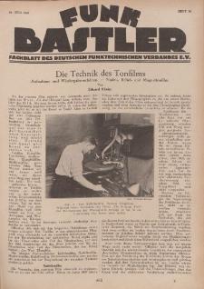 Funk Bastler : Fachblatt des Deutschen Funktechnischen Verbandes E.V., 26. Juli 1929, Heft 30.