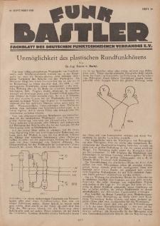 Funk Bastler : Fachblatt des Deutschen Funktechnischen Verbandes E.V., 27. September 1929, Heft 39.