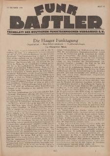 Funk Bastler : Fachblatt des Deutschen Funktechnischen Verbandes E.V., 18. Oktober 1929, Heft 42.