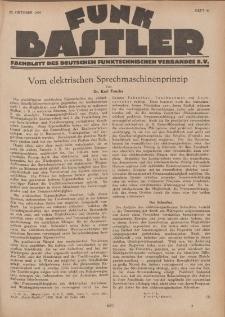 Funk Bastler : Fachblatt des Deutschen Funktechnischen Verbandes E.V., 25. Oktober 1929, Heft 43.