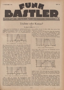 Funk Bastler : Fachblatt des Deutschen Funktechnischen Verbandes E.V., 8. November 1929, Heft 45.