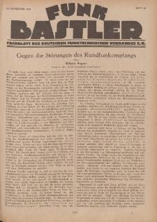 Funk Bastler : Fachblatt des Deutschen Funktechnischen Verbandes E.V., 15. November 1929, Heft 46.