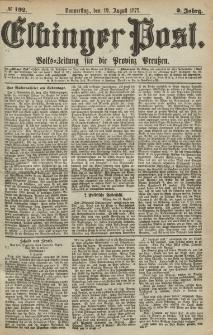 Elbinger Post, Nr.192 Donnerstag 19 August 1875, 2 Jh