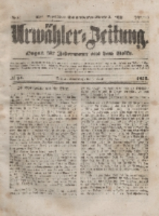 Urwähler-Zeitung : Organ für Jedermann aus dem Volke, Donnerstag, 8. April 1852, Nr. 84.