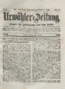 Urwähler-Zeitung : Organ für Jedermann aus dem Volke, Freitag, 9. April 1852, Nr. 85.