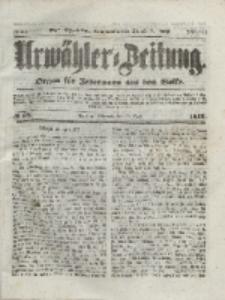 Urwähler-Zeitung : Organ für Jedermann aus dem Volke, Mittwoch, 28. April 1852, Nr. 99
