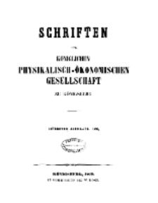Schriften der Königlichen Physikalisch-Ökonomischen Gesellschaft zu Königsberg, 7. Jahrgang, 1866