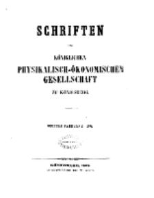 Schriften der Königlichen Physikalisch-Ökonomischen Gesellschaft zu Königsberg, 9. Jahrgang, 1868
