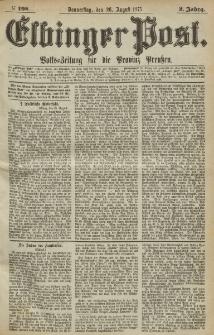 Elbinger Post, Nr.198 Donnerstag 26 August 1875, 2 Jh