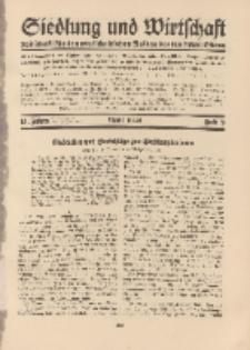 Siedlung und Wirtschaft, 13. Jahgang, April 1932, Heft 8.