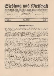 Siedlung und Wirtschaft, 13. Jahgang, Juli 1932, Heft 11.