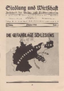 Siedlung und Wirtschaft, 14. Jahgang, Oktober 1932, Heft 2.