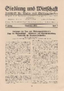 Siedlung und Wirtschaft, 14. Jahgang, November 1932, Heft 3.