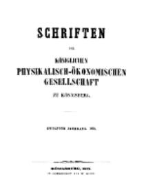 Schriften der Königlichen Physikalisch-Ökonomischen Gesellschaft zu Königsberg, 12. Jahrgang, 1871