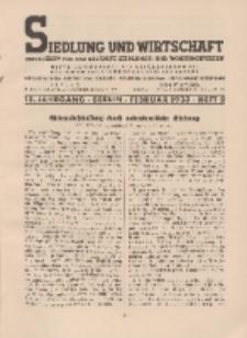 Siedlung und Wirtschaft, 15. Jahrgang, Februar 1933, Heft 2.