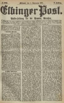 Elbinger Post, Nr.203 Mittwoch 1 September 1875, 2 Jh