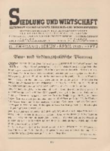 Siedlung und Wirtschaft, 15. Jahrgang, April 1933, Heft 4.