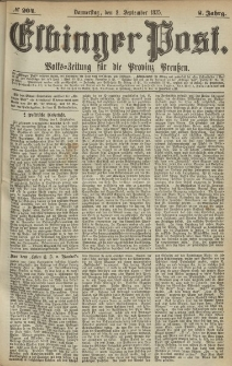 Elbinger Post, Nr.204 Donnerstag 2 September 1875, 2 Jh
