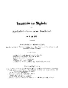 Verzeichnis der Mitglieder der Königlichen Physikalisch-Ökonomischen Gesellschaft, 1875