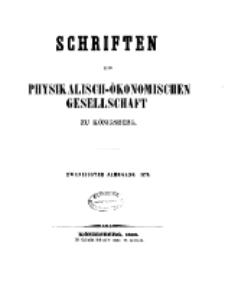 Schriften der Königlichen Physikalisch-Ökonomischen Gesellschaft zu Königsberg, 20. Jahrgang, 1879