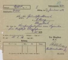 Magistrat - Urząd Gruntowy w Elblągu - korespondencja (23.01.1932 r.)
