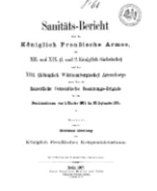 Sanitäts-Bericht über die Königlich Preussische Armee, 1904-1905