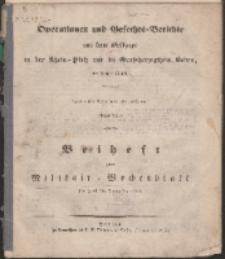 Operationen und Gefechts=Berichte [...], 1850, S. 115-121 + Beilage