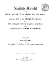 Sanitäts-Bericht über die Königlich Preussische Armee, 1910-1911