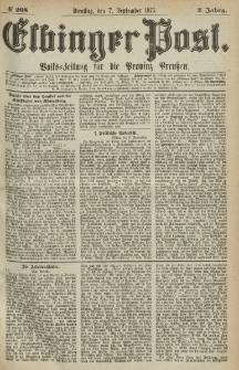 Elbinger Post, Nr.208 Dienstag 7 September 1875, 2 Jh