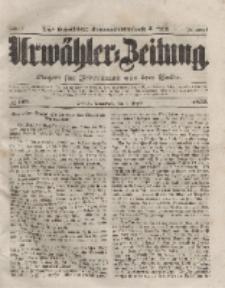 Urwähler-Zeitung : Organ für Jedermann aus dem Volke, Sonnabend, 7. August 1852, Nr. 183.